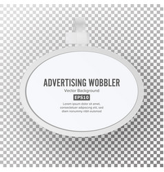 plastic advertising wobbler vector image