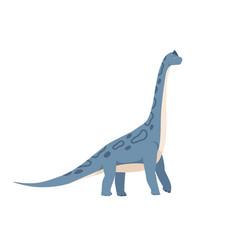 Profile brachiosaurus dino extinct dinosaur vector