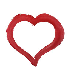 red paint heart vector image