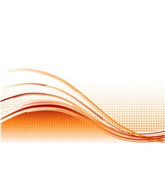 Red wave background with lines vector