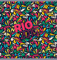 rio 2019 colorful abstract pattern brazilian vector image
