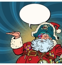 Santa Claus pirate presentation gesture vector
