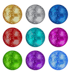 Set disco balls vector