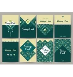 Set of creative vintage card templates Best vector image