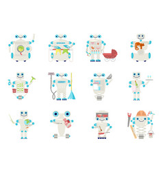 set of home robot vector image