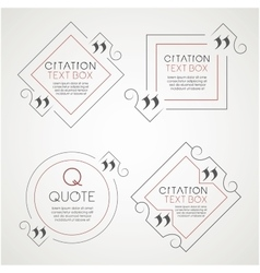 Set of the citation text box Frame for decoration vector image