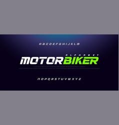 sport modern italic alphabet font typography vector image