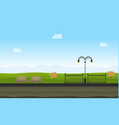Style background game in garden landscape vector