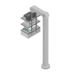 Surgery device stand icon isometric style vector