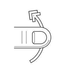 Swipe vertically line icon vector