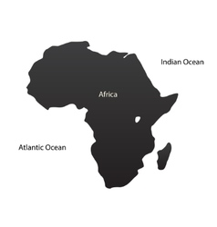 The African continent vector image