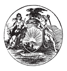 The official seal of the us state of new york in vector