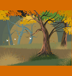 Trees forest vector