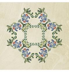 Ukrainian blue wreath vector