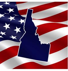 united states idaho dark blue silhouette the vector image