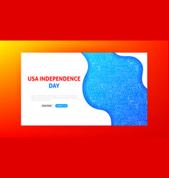 usa independence day landing page vector image
