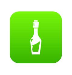 Vinegar bottle icon green vector