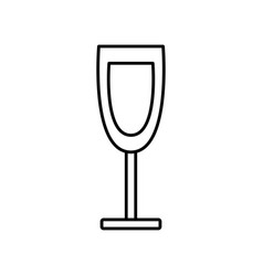 wine glass cup drink alcohol outline icon vector image