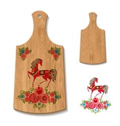 wooden utensil2 vector image