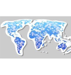 world map silhouette vector image
