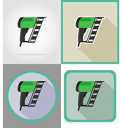 electric repair tools flat icons 10 vector image vector image