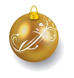 Golden Christmas ball reflecting light New Year vector image