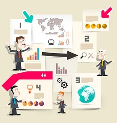 Presentation Infographics - Graphs with vector image