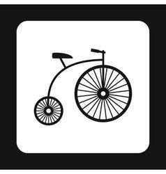Retro bike icon simple style vector image vector image