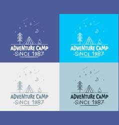 trendy camping label hand drawn t shirt print vector image vector image