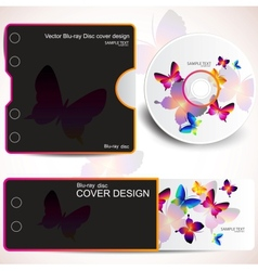 cover design template of disk and business card bu vector image
