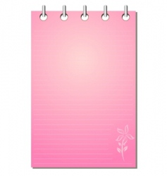 Girl's notepad vector image vector image