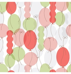 Pattern of colorful balloons vector