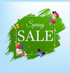 sale banner with flower vector image vector image