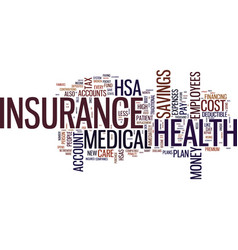 the new way to lower the cost of health insurance vector image vector image