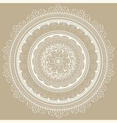Vintage white lacy napkin vector