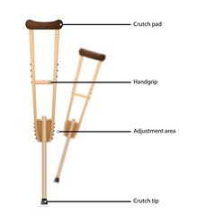 crutch with explanations vector image vector image