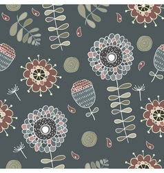 cute floral seamless vector image