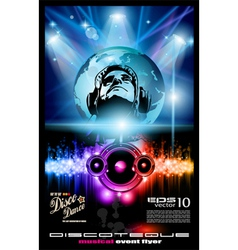 disco poster vector image vector image