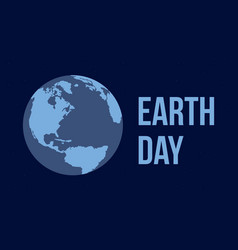 Earth day flat style vector