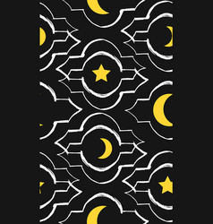hand made ramadan kareem greeting seamless vector image