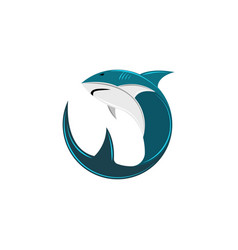 shark logo of the round form the abstract vector image vector image