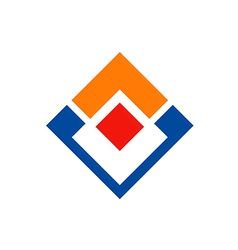 square geometry business construction logo vector image