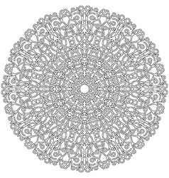 adult coloring book lacy mandala black and white vector image vector image