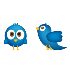Cartoon of blue bird vector image vector image