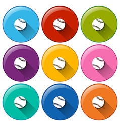 Circle buttons with small balls vector image