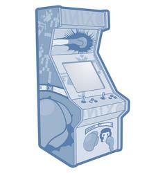 game machine vector image