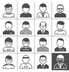 Men users icons vector image vector image