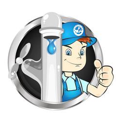 plumber to repair symbol vector image vector image
