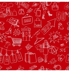 Sale seamless pattern background vector image