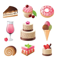 sweets and candies icons set vector image vector image